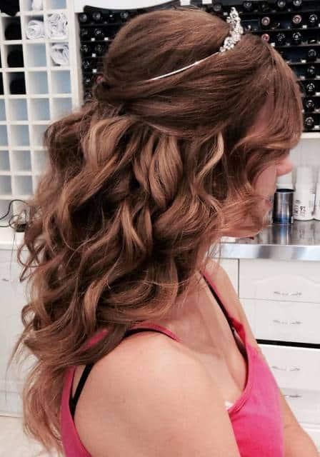 coroa para cabelo debutante