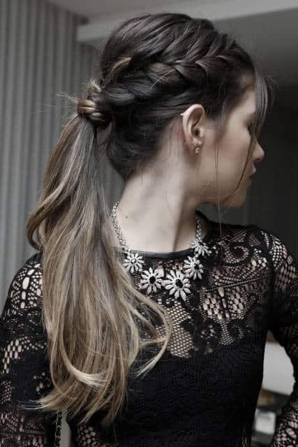 penteado com rabo de cavalo