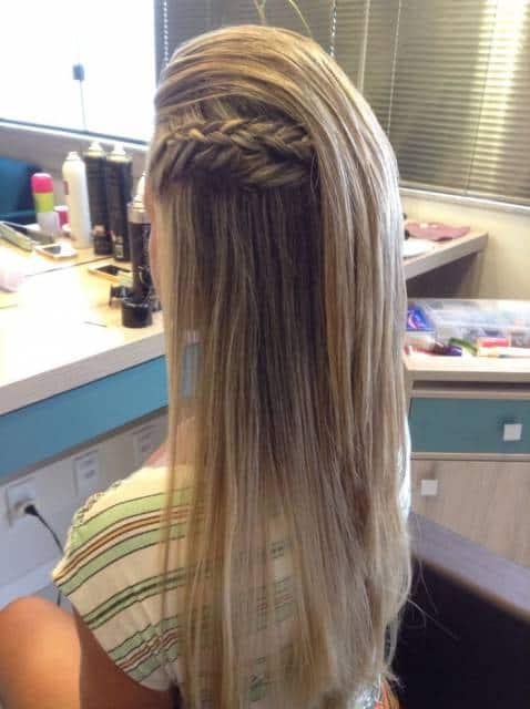 penteado para cabelo liso