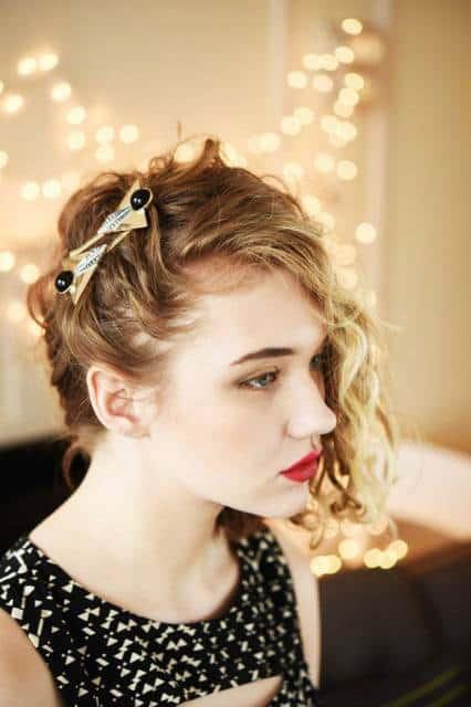 presilha de cabelo para festa