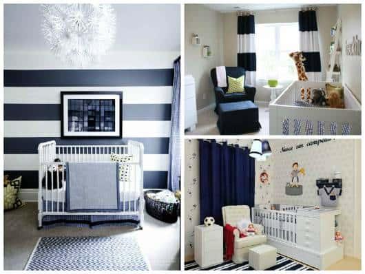 quarto bebê azul marinho