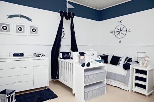 quarto bebê marinheiro azul