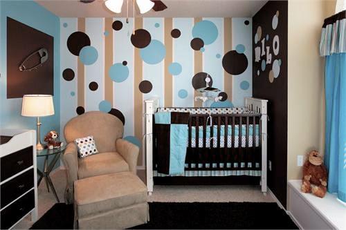 papel parede quarto de bebê menino