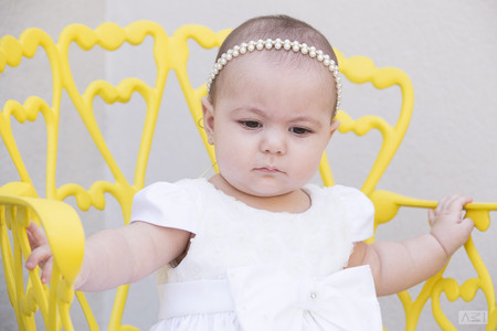 foto bebê batizado