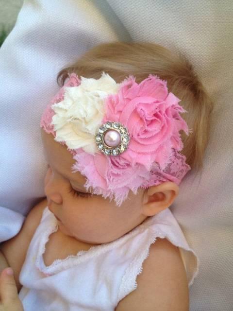 Tiara para bebê delicada