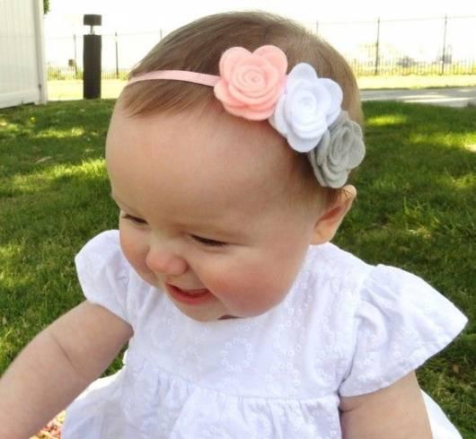 30 tiaras para beb como fazer modelos e fotos - Diademas para bebes bautizo ...