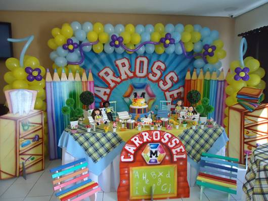decoracao festa carrossel