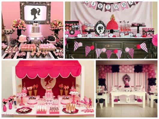 ideias para festa da Barbie