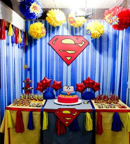 festa simples super homem