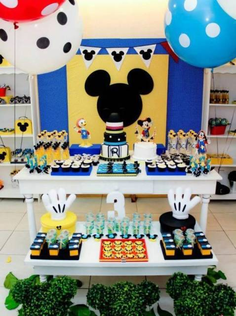 festa do mickey azul