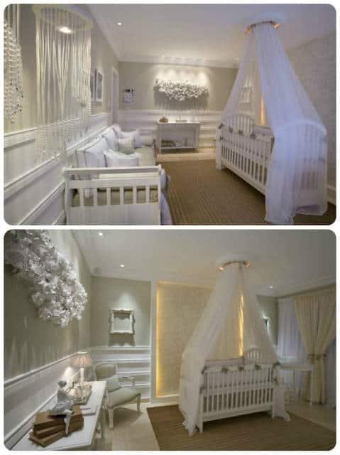decoração quarto de bebê bege e branco