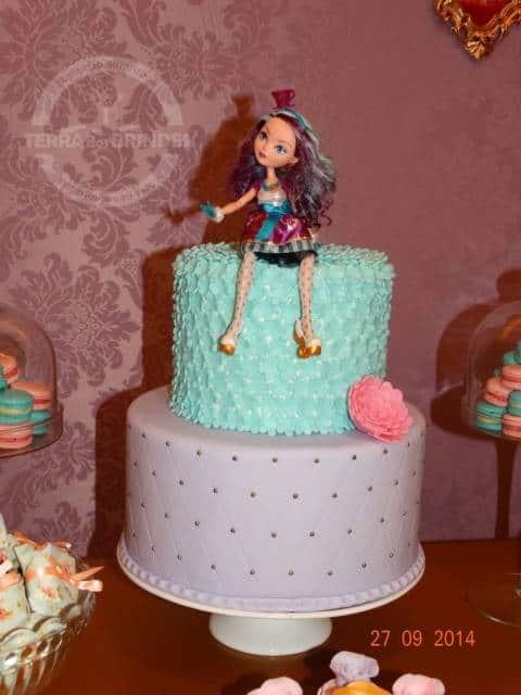 bolo roxo e azul