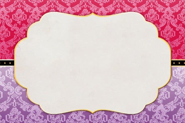 convite rosa e roxo