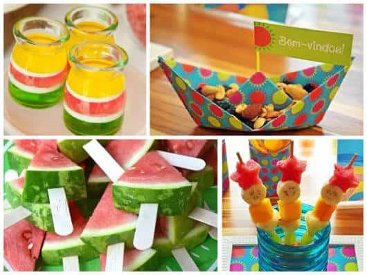 comidas saudáveis festa criança