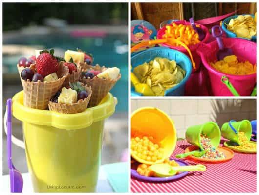 comida para pool party