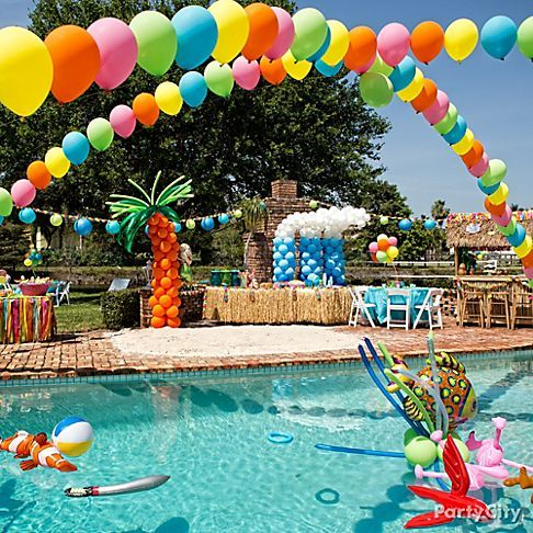 Festa infantil na piscina como organizar e decorar - Swimming pool party ideas for kids ...