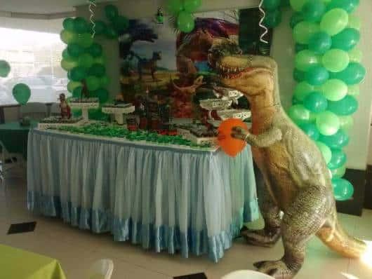 painel festa dinossauro