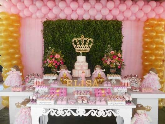 FESTA REALEZA Decoraç u00e3o, Bolo e Lembrancinhas! -> Decoração De Festa Infantil Realeza Luxo
