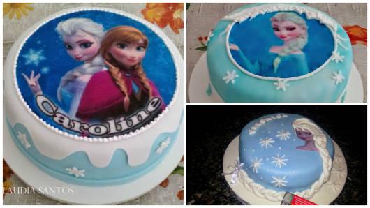 bolo redondo princesas