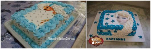 bolo elsa simples