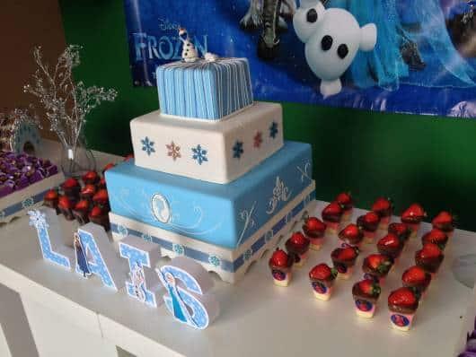 mesa doces festa frozen