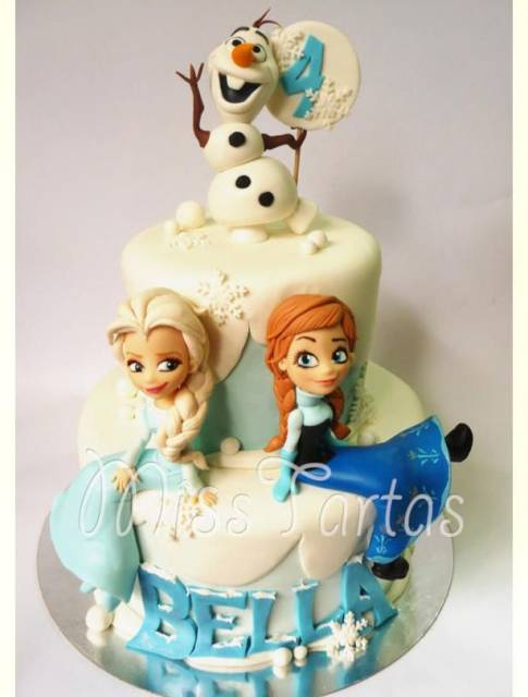 Elsa Anna And Olaf Cake Toppers