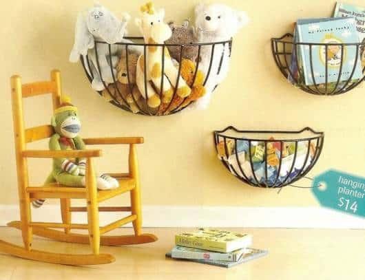 decorar quarto com cestos