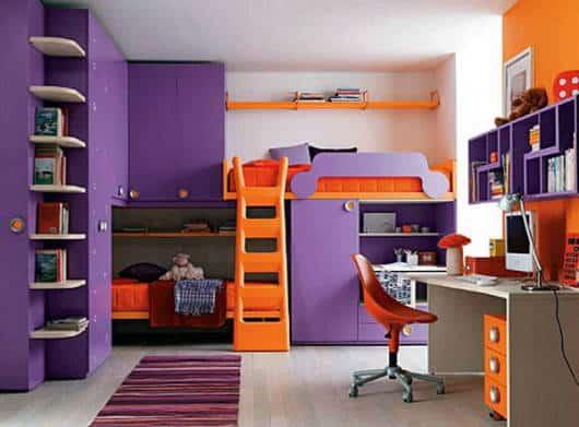 decoracao infantil dupla quarto moderno