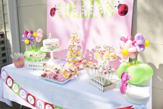 festa primavera para aniversario de menina