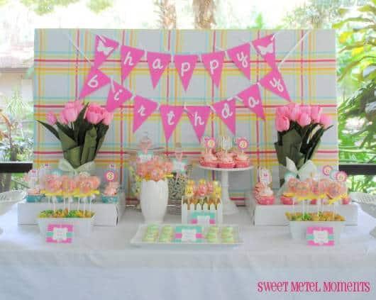festa de aniversario menina tema primavera