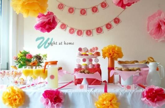 festa infantil em casa tema primavera