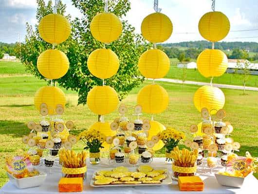 festa primavera infantil amarela