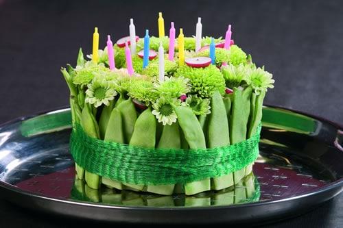 bolo decorado para festa jardim