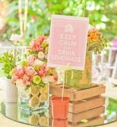 decoracao festa primavera mesas
