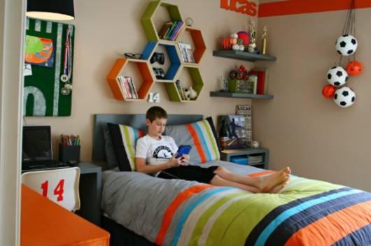 decoracao tema futebol para quartos