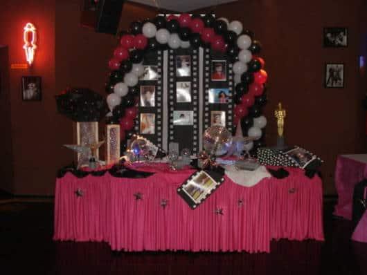 decoração pink e preto