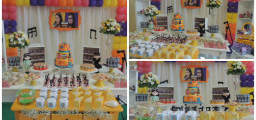 decoração festa manuela e isabela