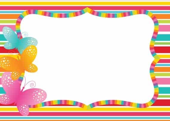convite colorido