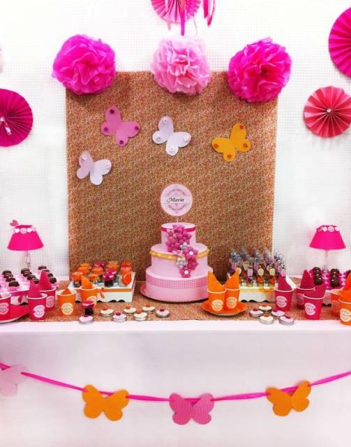 decoração pink