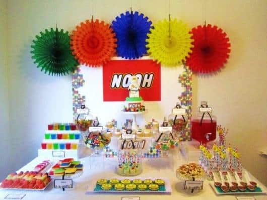decoração lego ninjago