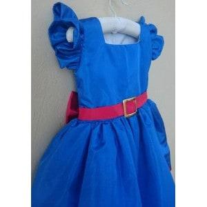 vestido azul rodado