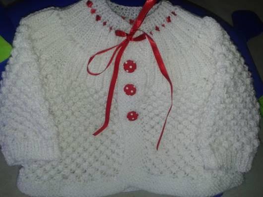 casaco de lã branca