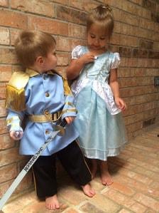 fantasia princesa e príncipe