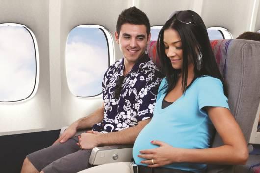 grávida avião