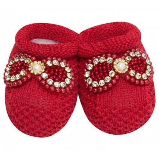 vermelho de tricô