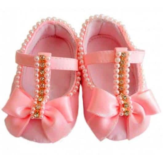 sapato bebê rosa