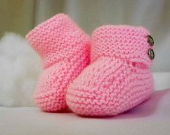 botinha de tricô