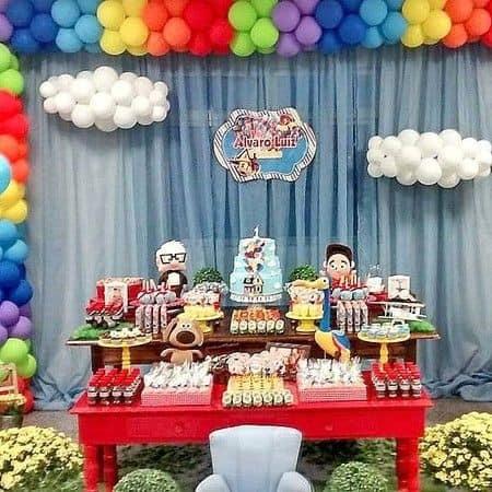 mesa colorida decoração