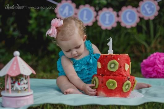 bolo de melancia com kiwi