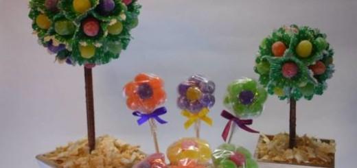 decoração com jujubas